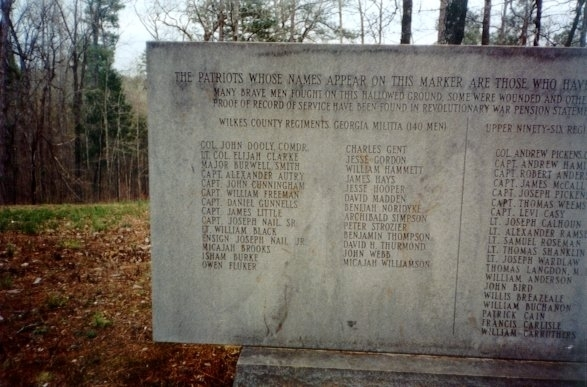 Kettle Creek Battlefield Marker