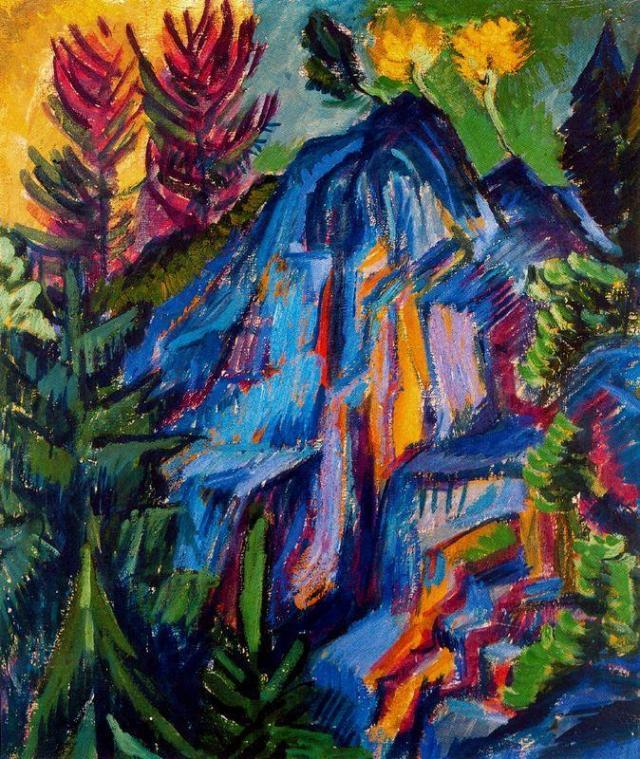 Kirchner_Ernst_Ludwig-Landscape_with_Cliffs_Blue