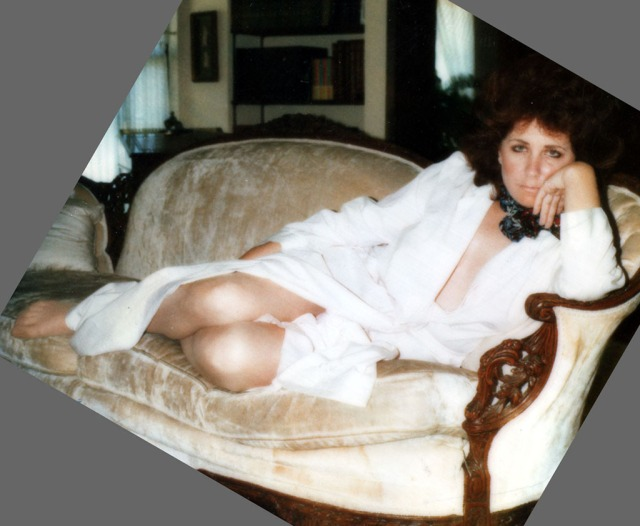 Christine 1980 Modeling on Sofa