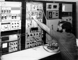 Mark 1976 at RF Test Bench
