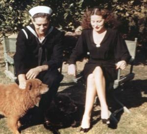 Rosemary 1943 Herman & Dog 1