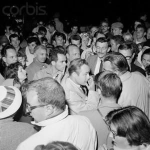 Marlon Brando with Protesters