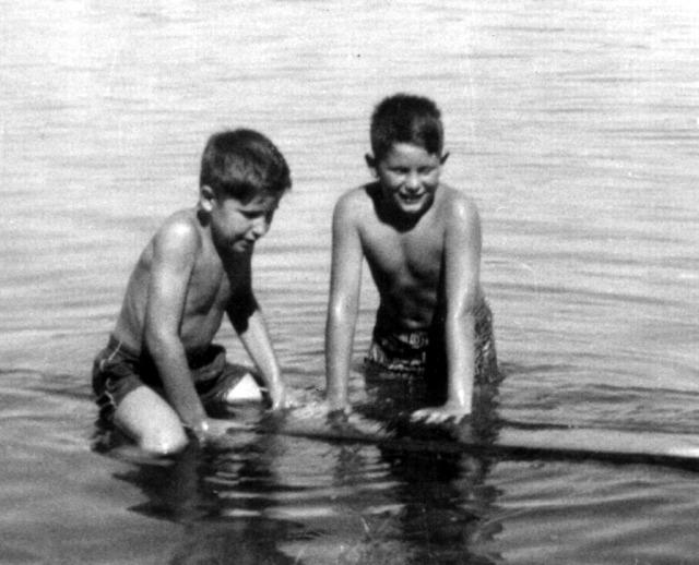 Prescos 1956 Greg & Mark at American River
