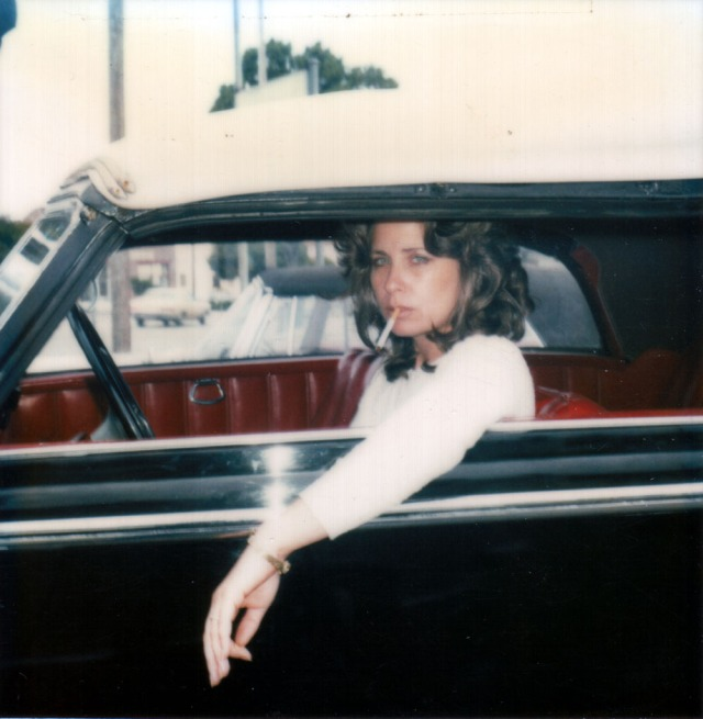 Christine 1980 Modeling in Car