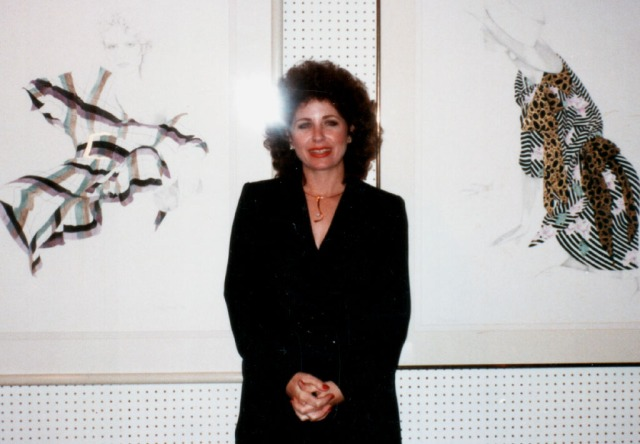 Christine 1980 with Paintings