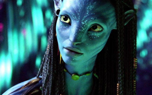 AVTR-211B   Zo' Saldana is Neytiri, a fearless and beautiful warrior, and a member of PandoraÕs royal clan of NaÕvi.