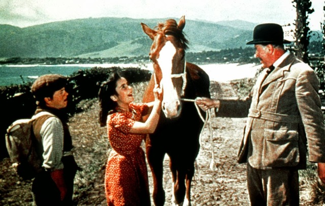 """Elizabeth Taylor and Mickey Rooney starred in """"National Velvet"""" in 1944."""
