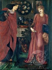 Fair Rosamund and Queen Eleanor 1861 Edward Burne-Jones (1833-1898 British)