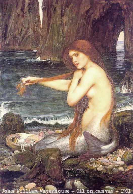 mermaid-combing-hair