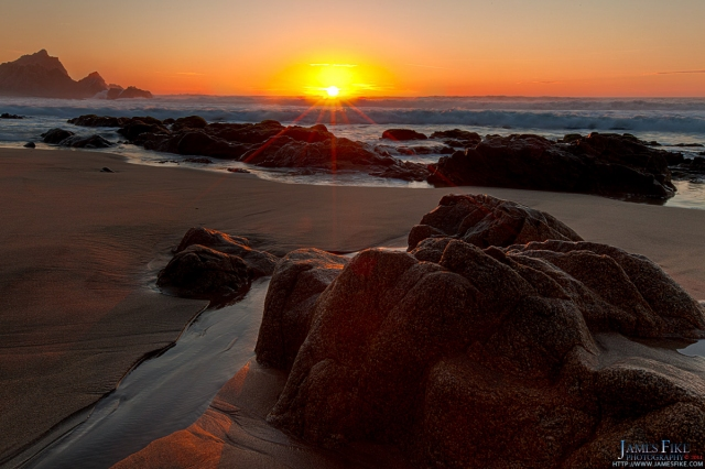 Watching the Sunset at McClures Beach in Point Reyes National Seashore. Taken on 01/23/2011 by James Fike Photography.