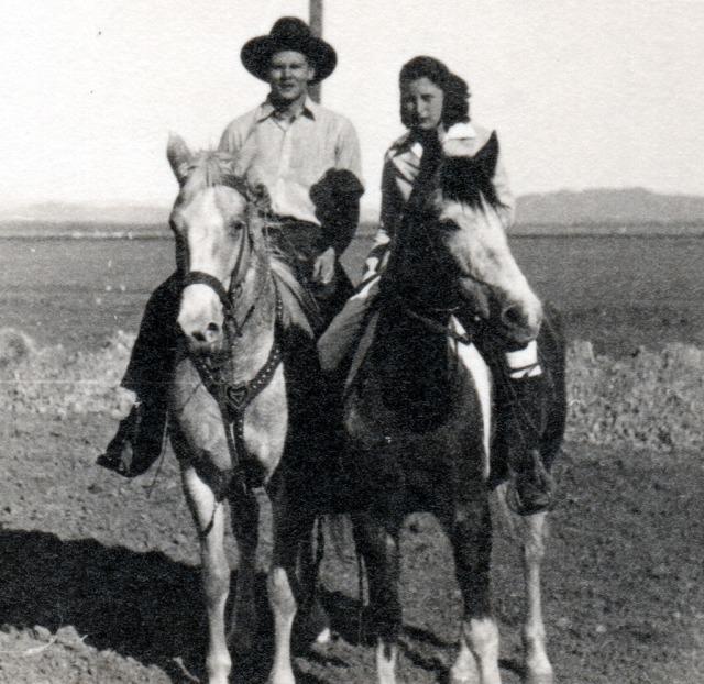 Rosemary 1939 & __ on Horseback