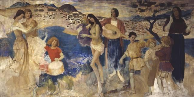 Lyric Fantasy circa 1913-4 Augustus John OM 1878-1961 Bequeathed by Mrs Reine Pitman 1972 http://www.tate.org.uk/art/work/T01540