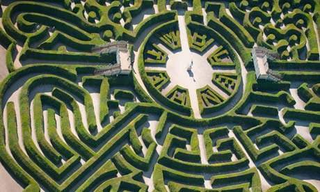 Marlborough Maze at Blenheim Palace, Oxfordshire, UK