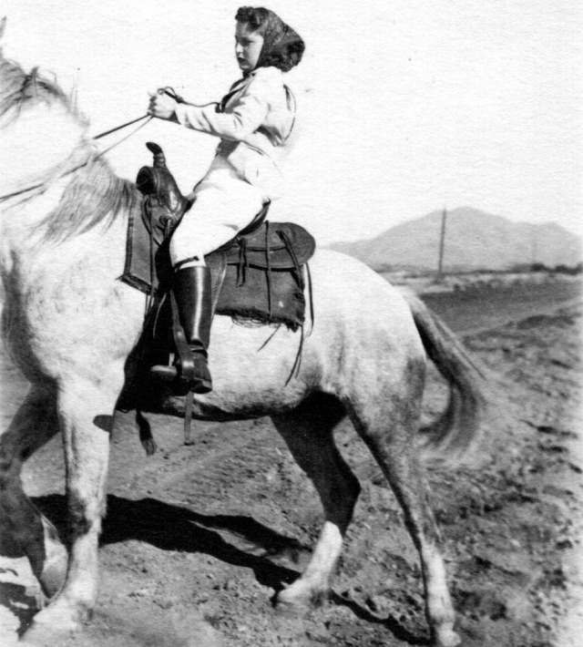 Rosemary 1939 on Horseback 1