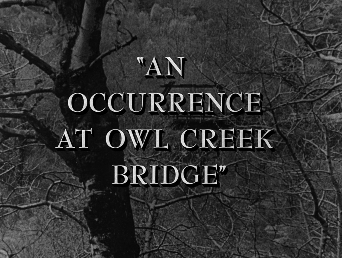 the occurrence at owl creek bridge An occurrence at owl creek bridge is set during the american civil war it opens as a man is about to be hanged from the owl creek bridge by union.