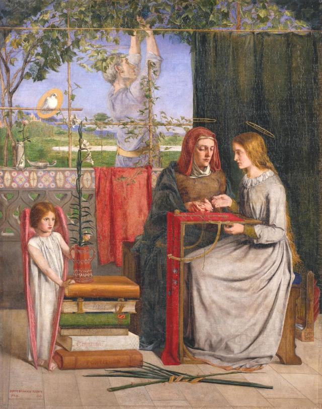 The Girlhood of Mary Virgin 1848-9 Dante Gabriel Rossetti 1828-1882 Bequeathed by Lady Jekyll 1937 http://www.tate.org.uk/art/work/N04872