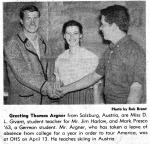 Mark 1963 Newspaper Clipping