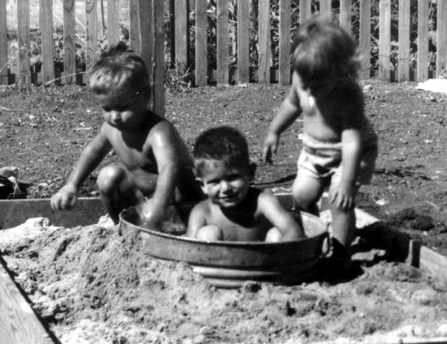 Prescos 1949 Greg, Mark & Christine in sandbox - Copy
