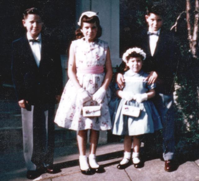 Prescos 1956 Greg, Christine, Vicki & Mark