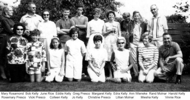 Rosamonds 1963 Family Gathering 1