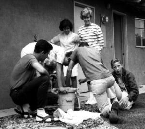 Prescos 1963 and Friends making Icecream BW